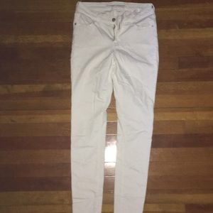Old Navy Rock Star Size 4 white jeans